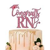 Congrats RN Cake Topper,Rose Gold Glitter...