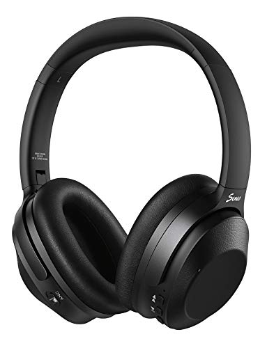 Hybrid Active Noise Cancelling Headphones, Wireless Bluetooth Headphones Over Ear, HiFi Sound Deep Bass, Soft Protein Earpads, 30H Playing Time, for Online Class, Travel, Home Office