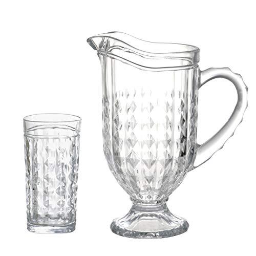 Jogo para refresco Filipa 7 pecas em cristal ecologico (1L+6x330ml) transparente