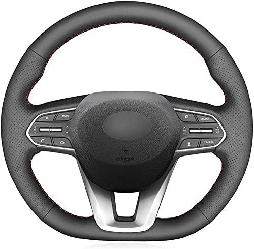 Funda para volante de coche de piel suave, para Hyundai Santa Fe...