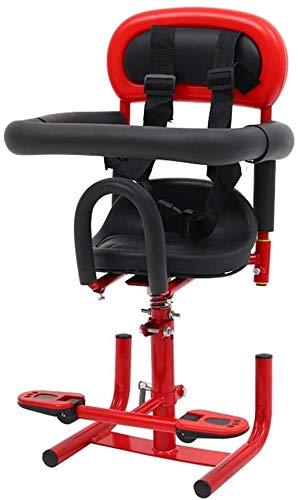 Lanxing Elektrische Motorrad Kindersitz Batterie Auto Elektro Moped Baby-Sicherheitssitz vorne Baby Kindersitz, Farbe: Rot (Color : Red)
