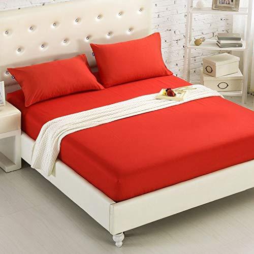 NTtie Protector de colchón/Cubre colchón Acolchado, Ajustable y antiácaros. Protector de colchón de Hotel Pure Color