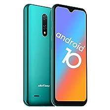Ulefone Note 8P Smartphone Android 10-4G Dual SIM Billig Handy mit 3 in1 Steckplatz 5,5-Zoll-Bildschirm 2GB RAM 16GB ROM 8MP+2MP+5MP Dreifache Kameras Gesicht Freischalten (Grün)©Amazon