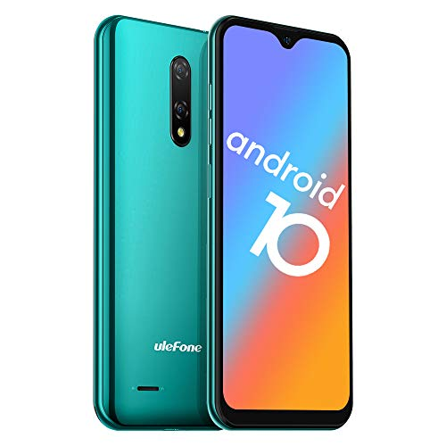 "Moviles Libres Baratos 4G, Ulefone Note 8P Android 10 Smartphone Libre, 2GB RAM 16GB ROM (128 GB SD), Pantalla 5.5"" HD+ Teléfono Móvil, Cámara 8MP+2MP+5MP, Ranura para tarjetas 3 en 1, Dual SIM -Verde"
