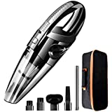 Handheld Vacuum Cordless Portable Wet Dry Vacuum Cleaner for Car Home Pet Hair with Filter Rechargeable 2200mAh Lithium Battery 120W 4500PA Powerful Suction (Black)