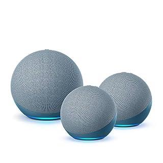 Multi Room Music Starter Kit | Echo (4th Gen) + 2 Echo Dot (4th Gen), Twilight Blue (B08ZKYSCNV) | Amazon price tracker / tracking, Amazon price history charts, Amazon price watches, Amazon price drop alerts