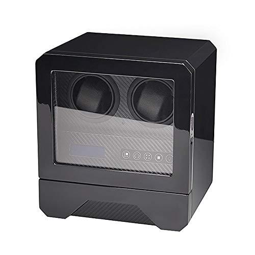 Oksmsa Cajas Giratorias for Relojes Automatico, Pantalla LCD De Pantalla Táctil, Motor Silencioso Y Adaptador De Corriente AC, Bobinadora for Relojes
