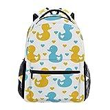 poiuytrew Love Ducks Hearts Backpack Sacs à bandoulière pour étudiants Sac de Voyage Sacs à Dos pour école Universitaire