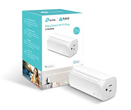Kasa Smart Plug by TP-Link, Dual Outlet Smart Home WiFi Socket works with Alexa, Echo, Google Home & IFTTT, No Hub Required, Remote Control, 15 Amp, UL Certified (HS107)