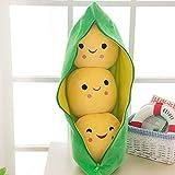 25CM Cute Kids Baby Plush Toy Pea Beans Relleno de la muñeca de la planta para los niños Niños Niñas regalo de juguete de almohada en forma de guisante (22cm-25cm,2)