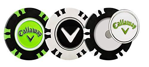 Callaway Golf Dual-Mark Poker Chip Ball Marker Pack 3
