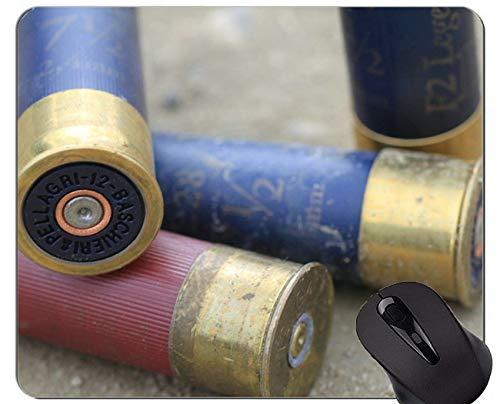 Rutschfeste Gummi-Gaming-Mausunterlage, Waffenpatronen-Hüllen Personalisierte Rechteck-Gaming-Mausunterlagen