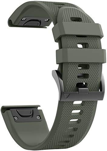 BarRan compatível com Fenix 5 pulseira 22mm Width Soft Silicone pulseira de relógio para Fenix 5/Fenix 5 Plus/Fenix 6/Fenix 6 Pro/Forerunner 935/Forerunner 945/Approach S60/Quatix 5