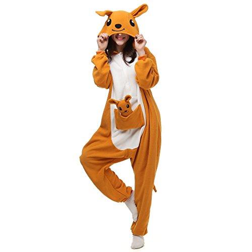 VU Roul Girl 's Erwachsene Kleidung Kigurumi Cosplay Kostüm Schlafanzug Gr. Small, Känguru