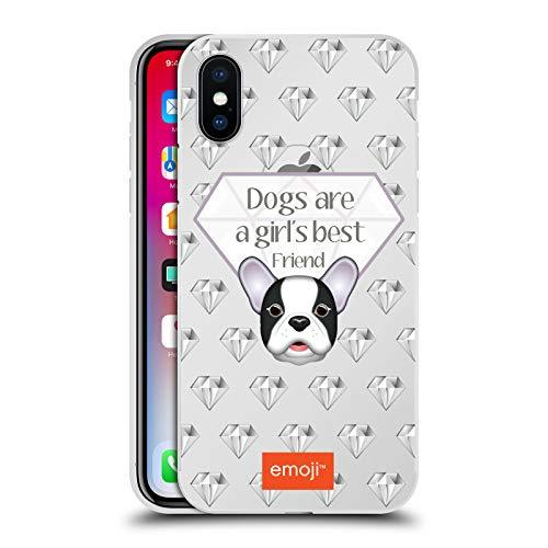 Officiële emoji® Beste vriend Honden Zilver Metallic Aluminium Bumper Compatibel voor Apple iPhone X/iPhone XS