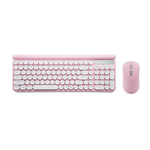 WLLL Teclado y ratón inalámbricos, teclado inalámbrico recargable, con estilo Teclado de tamaño completo y tranquilidad ratón Combo Super ahorro de energía, de 2,4 GHz Wireless y Bluetooth, computador