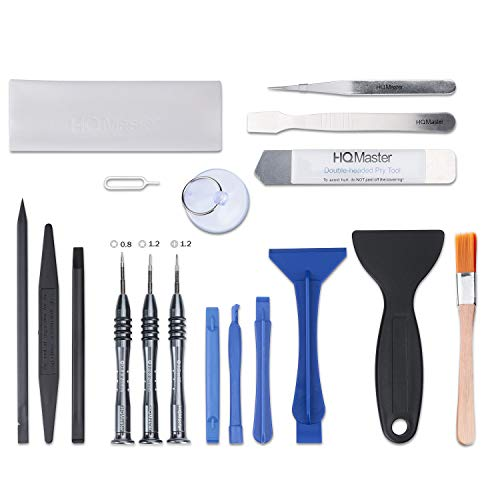 HQMaster Opening Pry Tool Kit, 18 in 1 Professional Phone Repair Tools for Electronics with Magnetic Pentalobe Phillips Screwdriver Set for Repairing Most MacBook, iPhone, Computer, iPad, iPod, Laptop