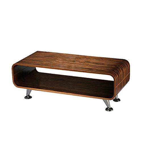 Mendler Couchtisch Loungetisch Club Tisch Perugia, 33,5x90x39 cm ~ Zebra dunkel, breite Streifen