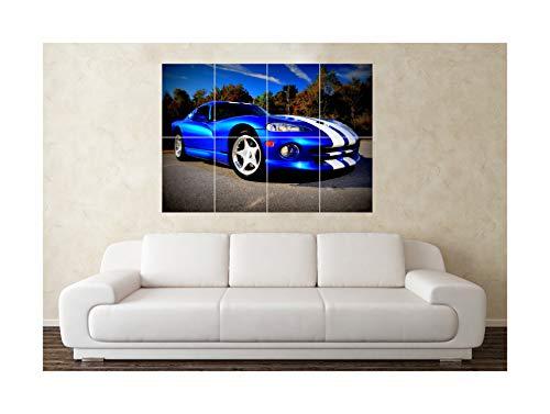 Grote Dodge Viper SRT V10 SuperCar Sport Auto Muurposter Kunstdruk