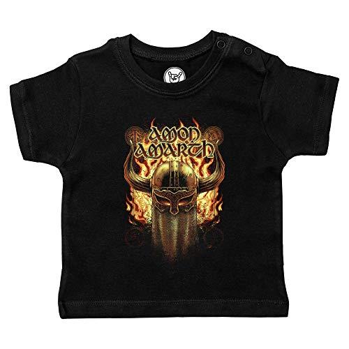 Metal Kids Amon Amarth (Helmet) - Baby T-Shirt, schwarz, Größe 68/74 (6-12 Monate), offizielles Band-Merch