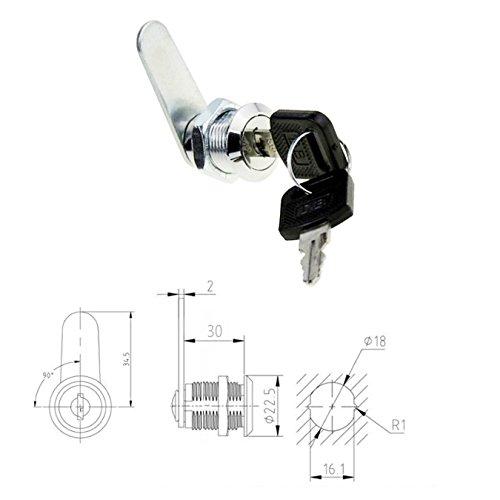 Hardware Schl/össer Sicherheits-Schubladenzylinder Schrank Schubladenschloss 2 Schl/üssel Werkzeugkasten Zinklegierung Briefkasten T/ür