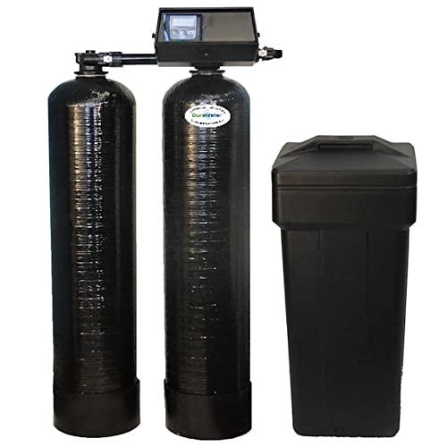 DURAWATER 9100sxt Fleck 9100 SXT Metered Dual Tank Softener 24/7 Soft Water (48,000 Grain), Black