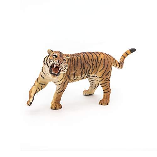 Papo 50182 Brüllender Tiger GROßE Figuren, Mehrfarben