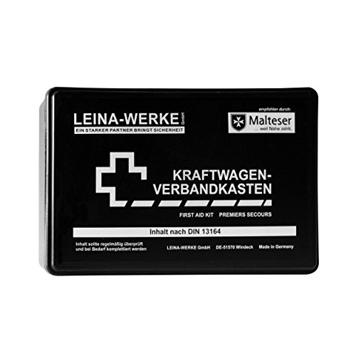 Leina-Werke 10002 KFZ-Verbandkasten Standard, Schwarz/Weiß