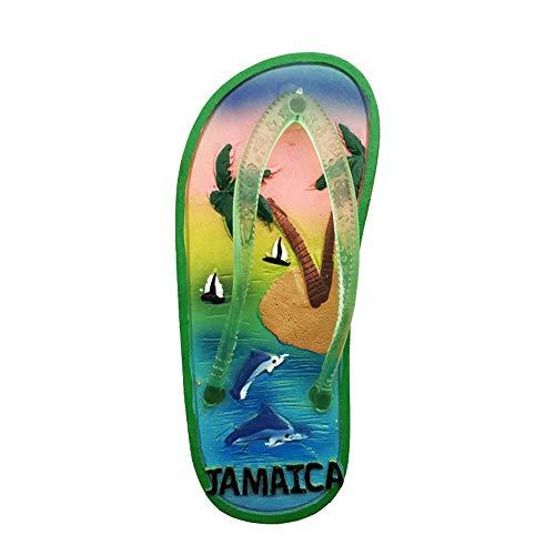 3D-Kühlschrankmagnet, Flip-Flop-Form, Jamaika-Kühlschrankmagnet, Souvenir, Geschenk, Heim, Küche, Dekoration, Kühlschrank, Magnet-Aufkleber-Kollektion