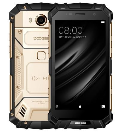 DOOGEE S60 Lite - 5.2 Pulgadas FHD Impermeable 4G Smartphone, 5580mAh batería Fast Charge (Carga inalámbrica Compatible), 1.5GHz Octa Core 4GB + 32GB, 8MP + 16MP, NFC GPS Metal Frame - Oro