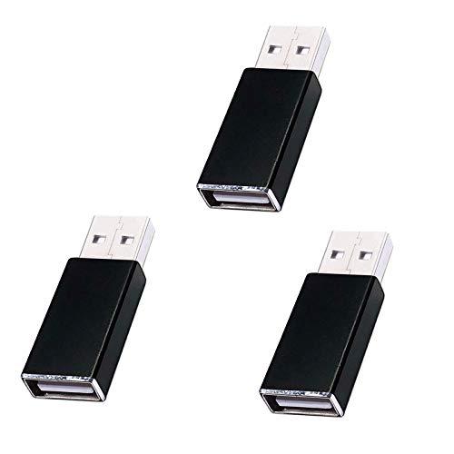 Huihongda 3rd Gen USB Data Blocker (3 Pack), Protect Against Juice Jacking, 100% Prevent Hacker Attack,Safe Charging (Black)