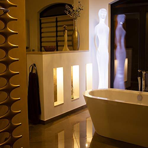 FURSTAR LED Lounge Leuchtstatue Viola LED Deko Stehlampe, Design Stehlampe, Wohnlampe