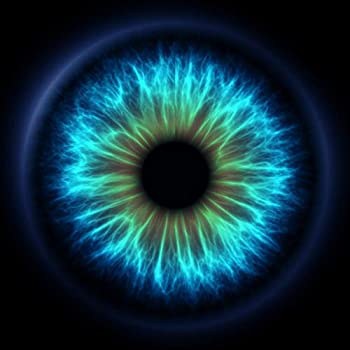 Uoopati DIY 5D Diamond Painting Set Blue Iris Digital Eye Pupil Human Psychic Abstract Doctor Retina Optician Round Drill Rhinestone Embroidery Arts Craft for Home Wall Decoration 12x12 Inch