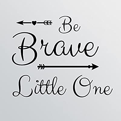 "28""x24"" Be Brave Little One Wall Decal Sticker Art Mural Home Decor Cute Nursery Baby Boy Girl Arrow Heart"