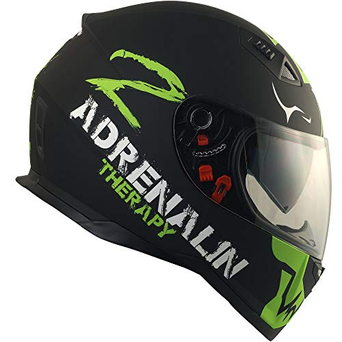 Broken Head Adrenalin Therapy II matt (M 57-58 cm) Motorradhelm – Helm grün – Integralhelm - 5