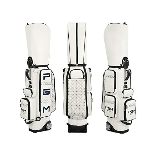 Golf Cart Bag Wheeled Leather Golf Club Bags for Men Transit Golf Bag Easy to Carry amp Durable with Rain Cover