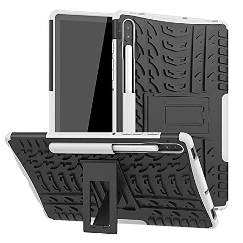 YANGJIE Tab Case Coperchio Tablet per Samsung Galaxy Tab S6 10.5 / T860 Trama Pneumatico TPU Antiurto TPU + Custodia Protettiva PC con Supporto per Manico Pieghevole Cover Posteriore per Tablet