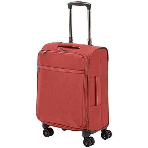 Amazon Basics - Trolley da viaggio morbido imbottito Belltown, 52 cm, Rosso