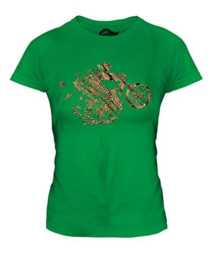 Candymix - Mountain Biker Triangular Splatter - Camiseta ajustada para mujer, verde (Irish Green), 40-42