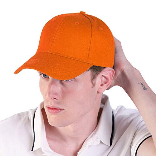 LIVACASA Baseball Cap Herren Verstellbar Basecap Luftlöchern Sonnenschutz Damen Baseballkappe CAPI Unisex mütze Baumwolle Cappy für Sport Reisen Draußen (Orange, One Size)