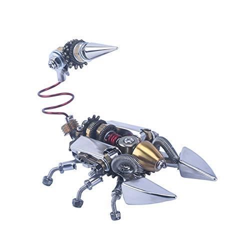 OMVOVSO Metall 3D Modell, Tier Modell DIY Metal Model Kit Metall 3D Puzzle Metall Metallbausatz 3D Konstruktionsspielzeug Metall Tier Modellbau Desert Scorpion,Silber