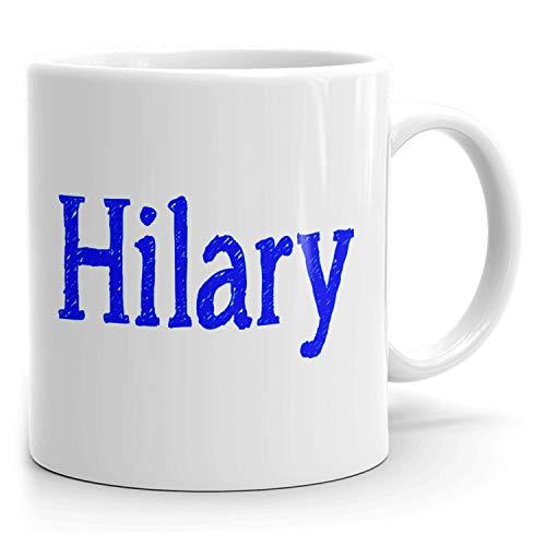 Hilary Kaffeetasse – Personalisierte Tasse für Tee, heiße Schokolade, Milch – Bestes Geschenk für Frauen – 325 ml weiße Tasse – Skizzen-Design