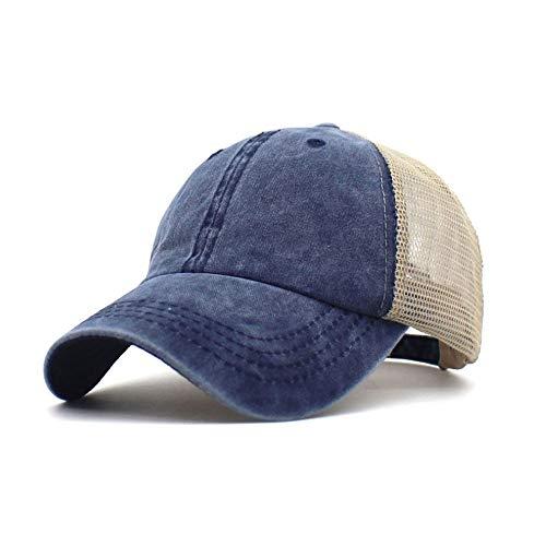 Yutdeng Gorra de Hombre Béisbol Unisexo Malla Gorra de Trucker Sombrero Baseball Cap con Ajustable Visera...