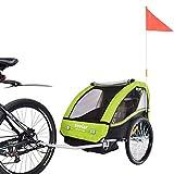 VEELAR Sport Kinderanhänger Fahrradanhänger Anhänger Kinderfahrradanhänger BT502 T - D02 Grün