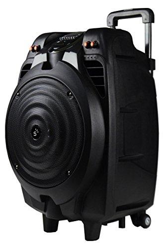 Sunstech MASSIVE-S10, Altavoz Móvil con Bluetooth (50 W, Usb, Incluye Mando A Distancia), Inalámbrico y alámbrico^Bluetooth/3.5mm/USB, Talla única, Negro