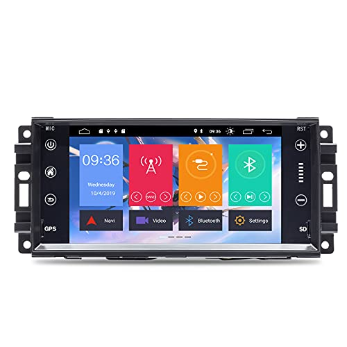 N A BOOYES per Jeep Wrangler JK Dodge RAM Challenger Dodge Journey Chrysler 300C 7inch Android 10.0 Autoradio Sistema GPS Stereo Auto Lettore multimediale Car Auto Play/TPMS/OBD / 4G WiFi/Dab