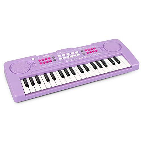 aPerfectLife Kids Keyboard Piano, 37 Key Portable Electronic Keyboard Piano Educational Toy, Digital Music Piano Keyboard for Kids Girls Boys (Purple)