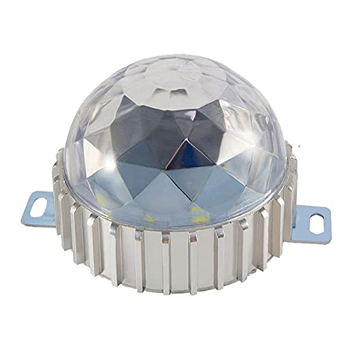 BDSHL Fuente de Luz Puntual LED Foco Redondo Exterior IP65 Impermeable 600lm Luz de Paisaje 5W Cartelera Cabeza de La Puerta Iluminación Colorida AC24V (Color : 4- Red Light, Size : 5W)