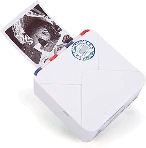 BESHENG M02S Impresora Térmica de Fotos Impresora portátil con Bluetooth Mini Impresora, Impresora fotos compatible con iOS y Android, Impresora fotográfica para notas, diario,planificador diario,foto