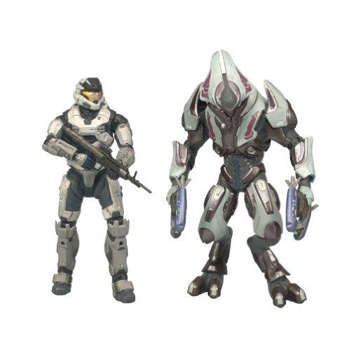 McFarlane Toys Halo Reach Series 1 Spartan Mark V [B] (Male) & Elite Ultra 2 Pack